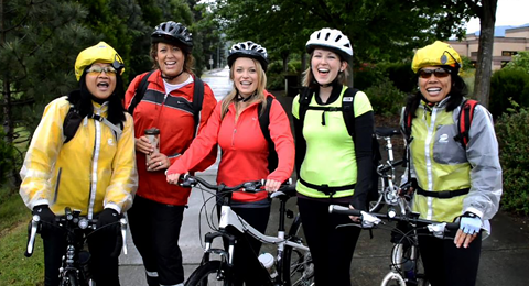 Group of Women on Bikes