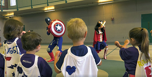 Super Heroes at Camp