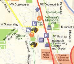 Image of Issaquah walks map.