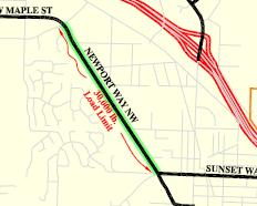 Image of truck routes map.