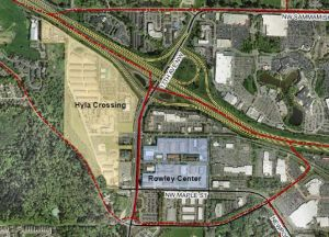 Map of the Rowley Redevelopment