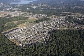 Aerial view of the Issaquah Highlands