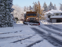 Snow Plow Truck Streets