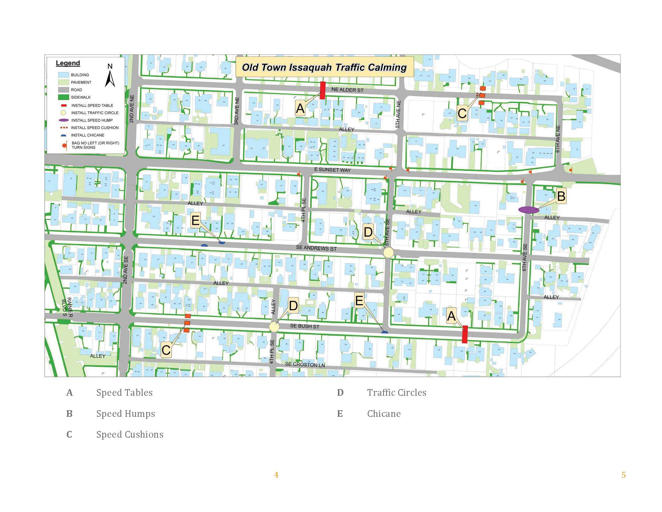 Olde Town Traffic Calming map